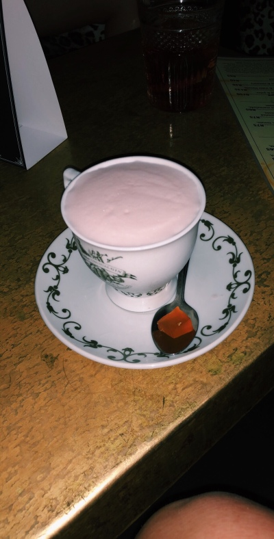 """""""More Tea Vicar?"""", the signature cocktail at The Orphanage, served in a teacup."""