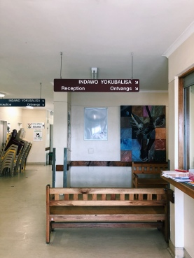 Waiting room for the prenatal unit
