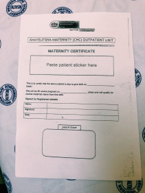 Maternity leave form