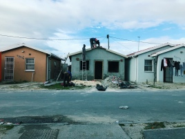 Construction on some of the more formal houses in Khayelitsha