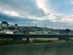 This view seems to stretch out for many miles. The population density of Khayelitsha is mind-blowing.