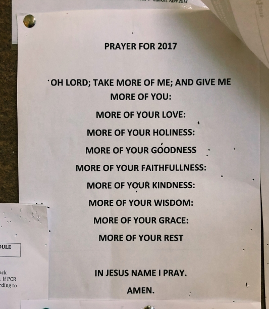 A prayer found on the noticeboard of the labor ward