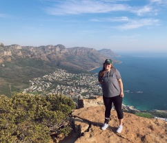 Taken again by the Netherlands tourists but this time on the TOP of Lion's Head (feat. Camps Bay)