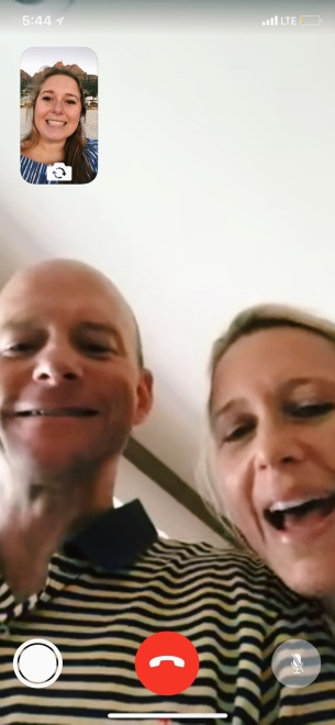 Facetiming Mom and Dad in!