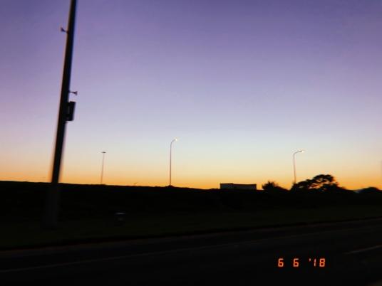 Sunrise view on the way to Khayelitsha